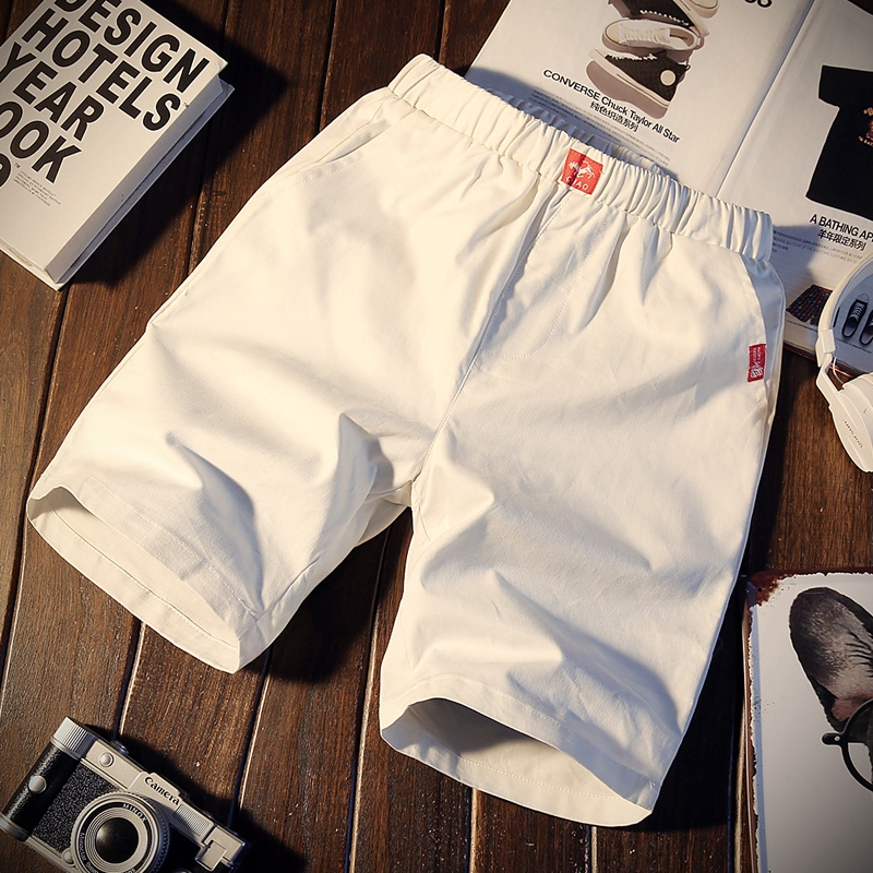 Summer casual trousers, men's shorts, slim trousers, young beach trousers, sports Korean version of five-minute trousers, five-minute trend
