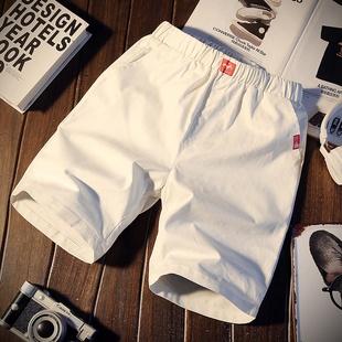 夏季休闲裤男士短裤修身中裤青年沙滩裤运动韩版五分裤子5分潮流品牌