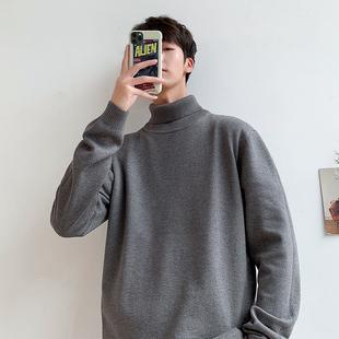 毛衣男秋冬新款韩版潮流男士针织衫套头外套外穿休闲高领毛线衣服