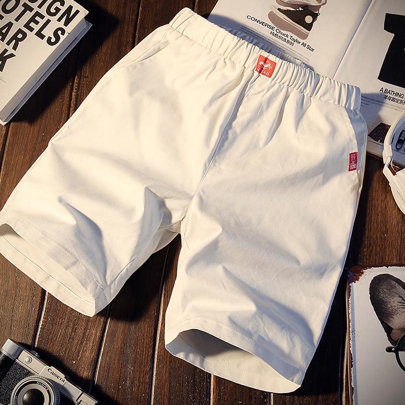 夏季休闲裤男士短裤修身中裤青年沙滩裤运动韩版五分裤子5分潮流