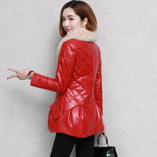 2008 Winter New Haining Leather Down Dress Short-style Down and Thickened Coat Fur Coat Sheepskin Clothing Moisture
