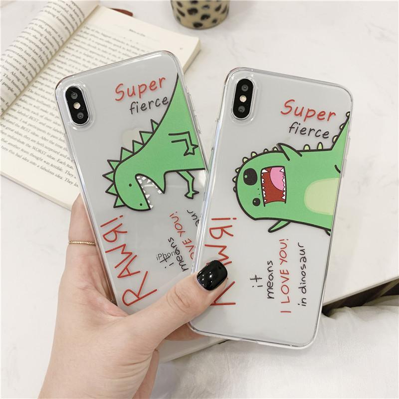 小恐龙魅族16spro手机壳卡通透明魅族16s Pro超薄保护套M973Q个性创不包邮