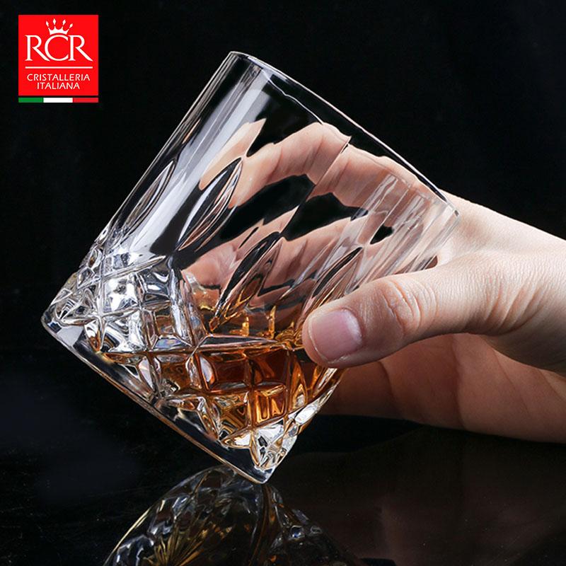 rcr进口威士忌酒杯家用水晶玻璃洋酒杯古典高档啤酒杯水晶杯套装