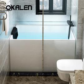 欧凯伦浴缸亚克力独立式家用成人浴池日式浴盆迷你小户型1m-1.5米