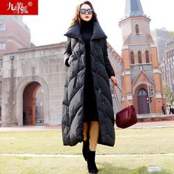 2020年新款女装冬季欧洲站欧货潮过膝高端到脚踝超长中长款羽绒服