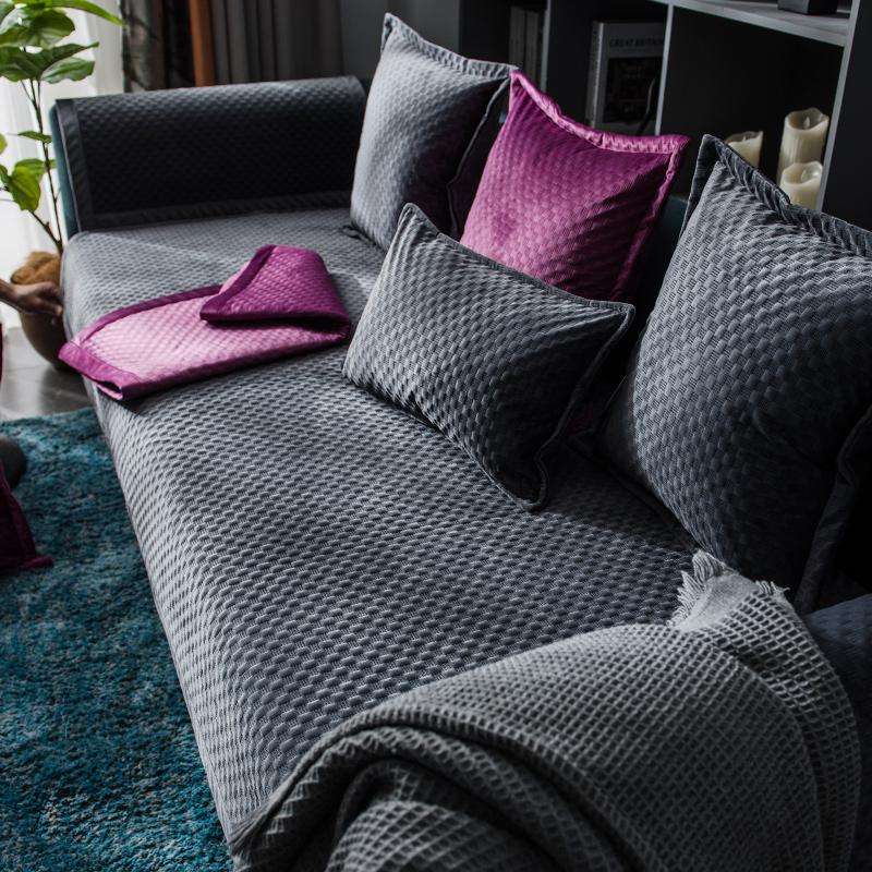 沙发垫子秋冬季短毛绒加厚罩沙发套值得购买吗