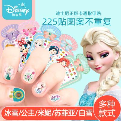 迪士尼儿童指甲贴女宝宝美甲纹身贴画女冰雪奇缘公主卡通指甲贴纸