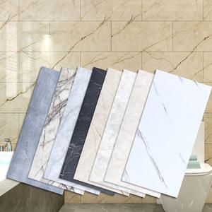 大理石自粘墙贴纸 卫生间防水翻新瓷砖背景墙纸PVC地板贴地面壁纸