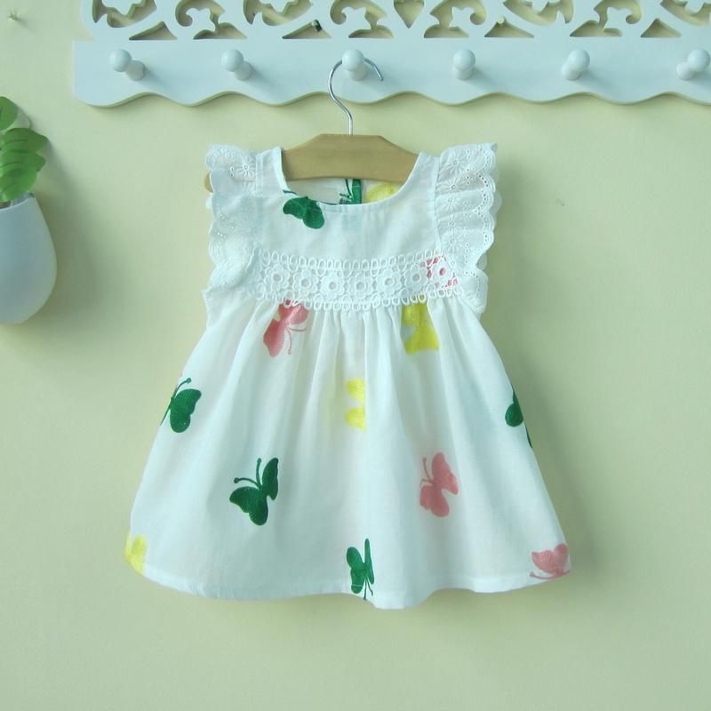 0一1-3歲半小童女寶寶短袖連衣裙嬰兒夏裝洋氣夏季2純棉公主裙子4