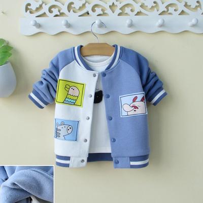 2019男宝宝棒球服外套0一1-2-3岁小男童秋冬装上衣婴幼儿洋气潮童