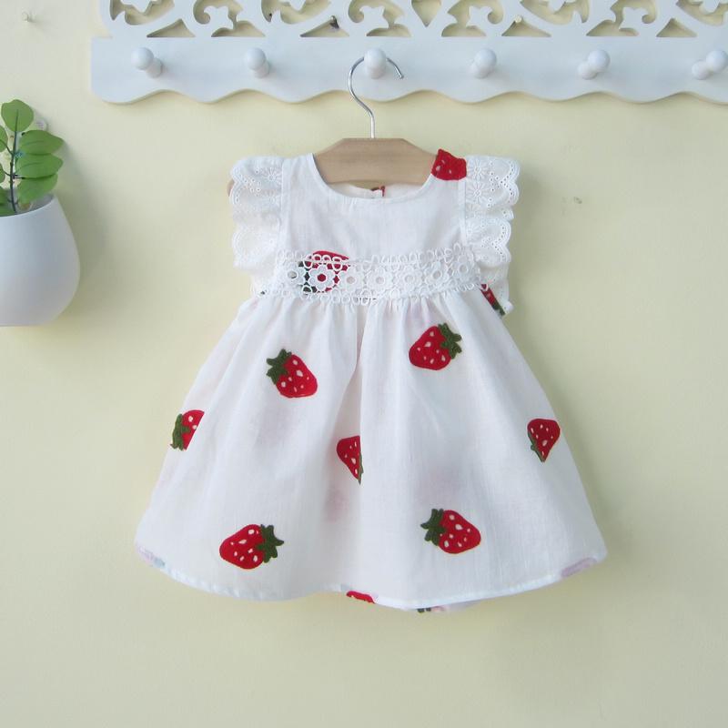 2016 女寶寶 連衣裙 1~2~3~4歲女童夏裝短袖裙子A字裙純棉