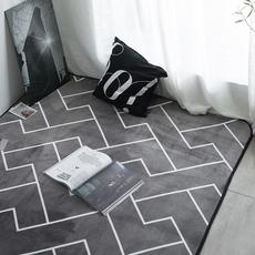ins北欧地毯卧室客厅地垫榻榻米地垫满铺可爱网红同款床边毯家用