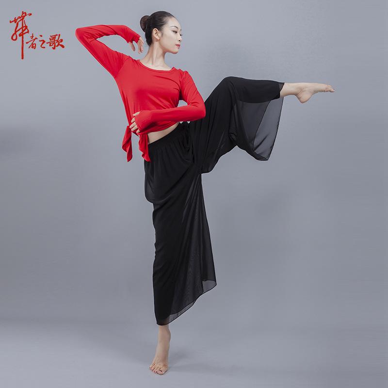 古典舞服现代舞民族舞蹈服 舞者之歌练功服练功裤雪纺舞蹈阔腿裤