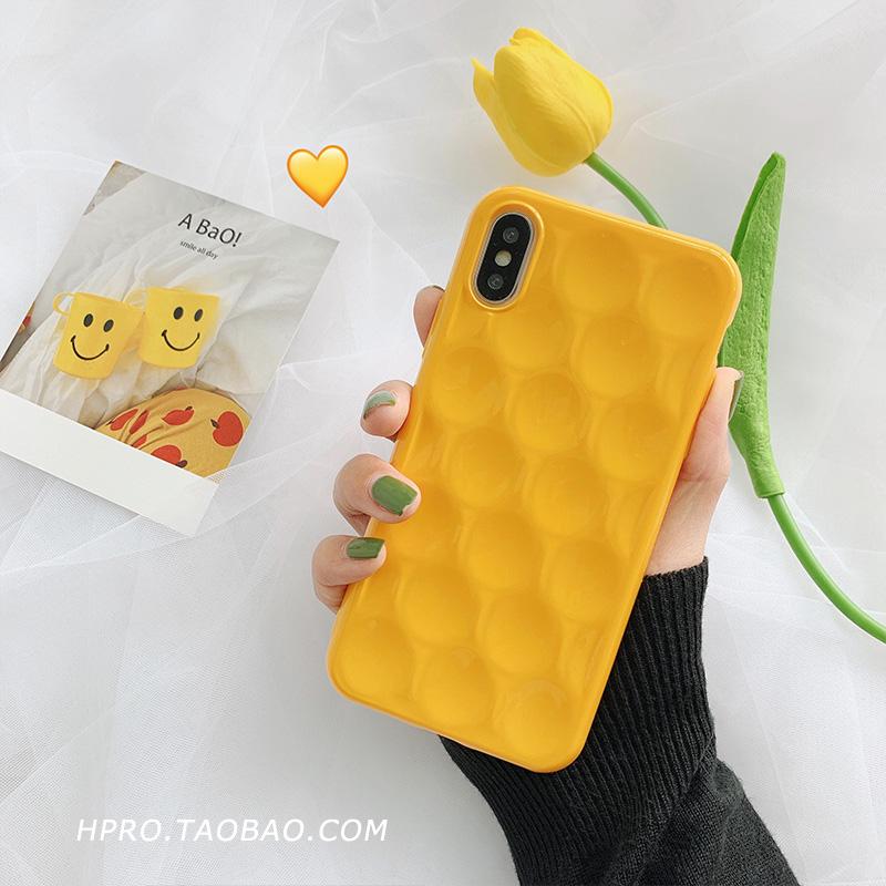 ins芒果黄8plus苹果x手机壳XS Max/XR/iPhoneX/7p/6女iphone6s套