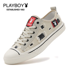 Playboy Men's Shoes Summer Breathable Korean Edition Fashion Student Canvas Shoes