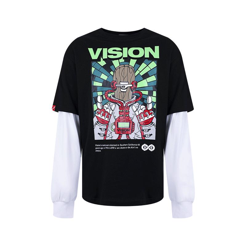VISION STREET WEAR银泰专柜2020秋新男女同款长袖T恤V203NC2001