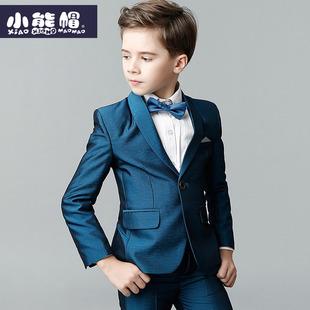 男童西装套装三件套帅气韩版男孩演出服花童礼服儿童小西服男春秋