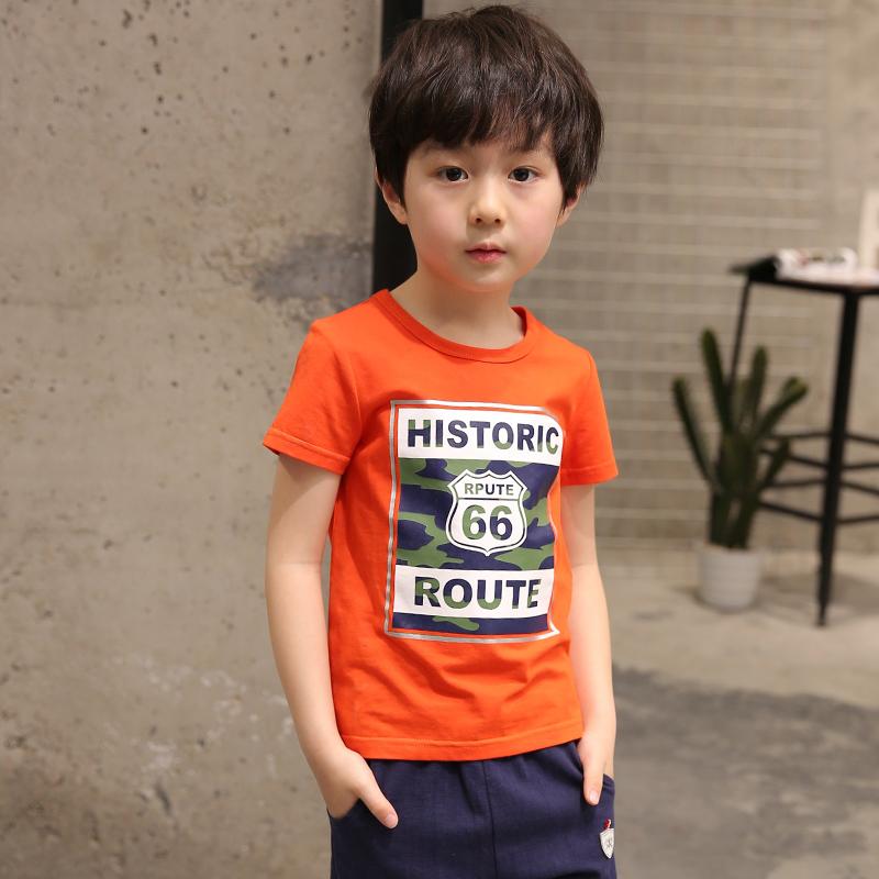 男童夏裝款短袖T恤中大兒童夏裝半袖男生 打底衫體恤