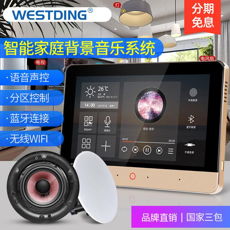 威斯汀XT8家庭背景音乐主机全屋吸顶音响智能家居控制器系统套装