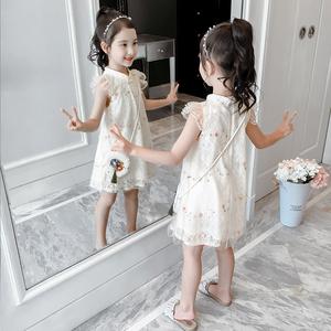 女童汉服连衣裙夏装2021新款童装旗袍女孩公主裙洋气儿童裙子夏季