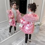 女童棉衣冬装2019新款外套童装服中长款女孩棉袄儿童羽绒棉服加厚