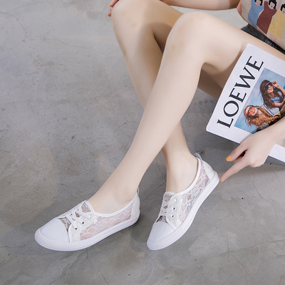 Soft leather white shoes women's summer 2021 new women's shoes mesh breathable mesh shoes leather shallow mouth thin single shoes