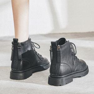 真皮马丁靴女2020年新款百搭低帮春秋单靴软皮靴子英伦风小短靴
