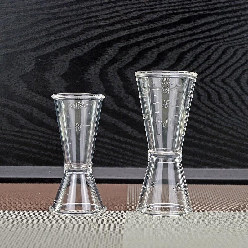 Молочный чай специальный устройство инструмент PC смола унция чашка двойной выпускник 20-40cc количество бокал молочный чай магазин инструмент