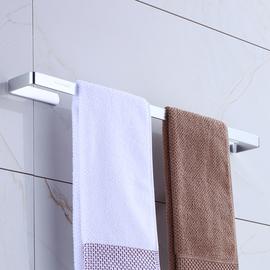毛巾架单杆毛巾杆免打孔卫生间浴室浴巾架免钉壁挂无痕太空铝挂架
