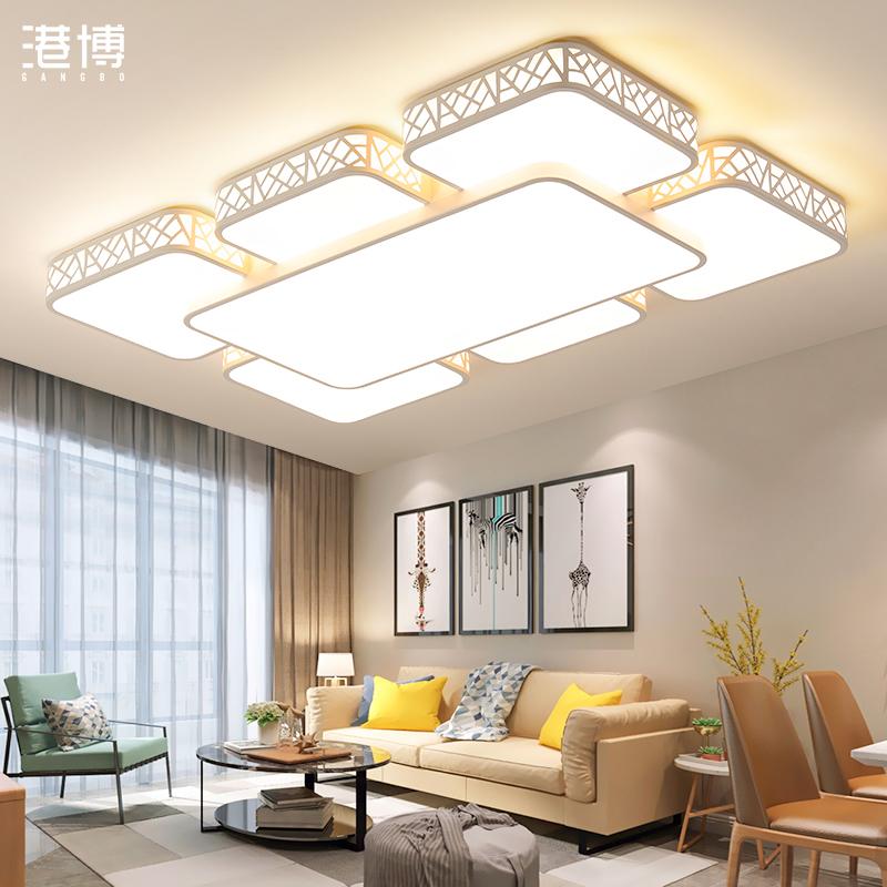 大灯简约现代长方形led 2020客厅灯