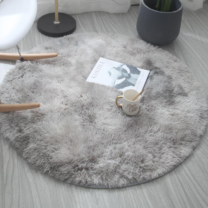 圆形地毯吊篮瑜伽垫电脑椅地垫房间卧室地毯床边毯客厅地毯茶几毯淘宝优惠券