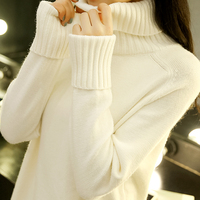 高领黑白色打底衫毛衣女士秋冬2019新款时尚宽松内搭针织加厚外穿