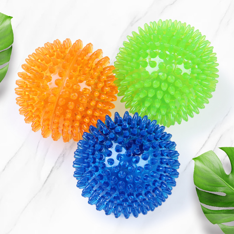 Dog Toy Ball Pet Toys Bite-proof Sound-proof Elastic Ball Large Dog Molars Golden Hair Teddy Dental Cleaning Training Ball