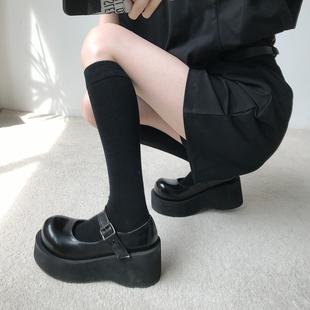 单鞋女日系JK原宿软妹玛丽珍厚底松糕跟大头鞋暗黑萝莉学生2019新