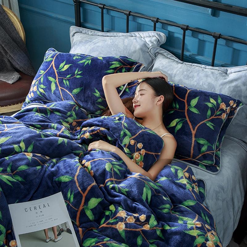 金貂绒珊瑚绒四件套 加厚保暖法莱绒1.8m床单被套法兰绒床上用品
