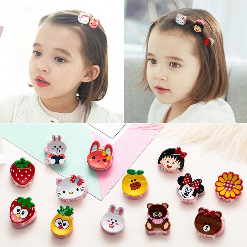 韩国儿童可爱卡通碎发夹小抓夹女童头饰公主迷你夹子发卡宝宝发夹