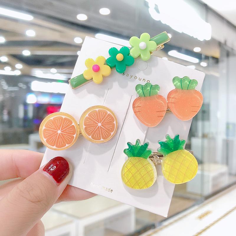 韩国可爱水果女童小花夹子彩色发夹限3000张券