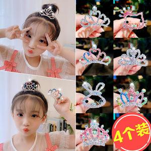 公主小皇冠头饰儿童女童宝宝王冠发夹发饰发梳插梳水钻饰品发卡女