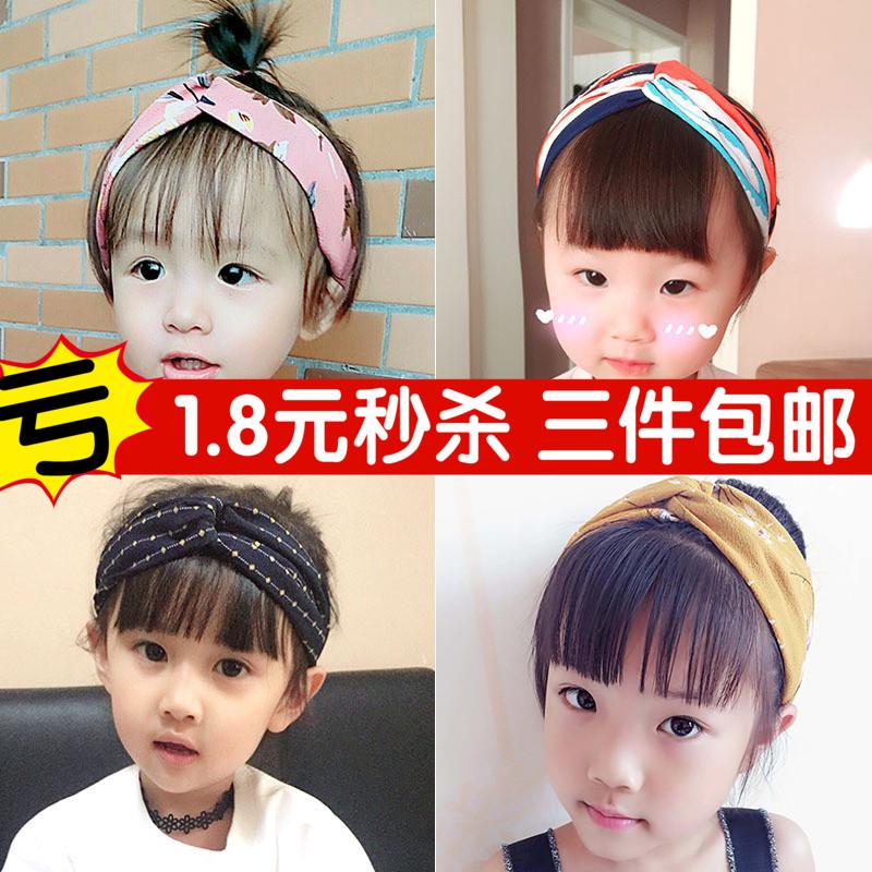 韩国女童公主女孩发卡宝宝婴儿超萌甜美可爱发带发箍潮妞儿童头饰
