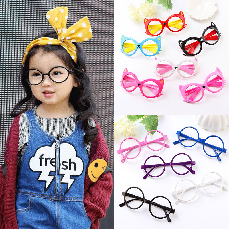 男女儿童眼镜框可爱无镜片男童女童宝宝玩具卡通框架小孩配饰婴儿
