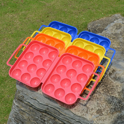 Outdoor shockproof plastic egg tray, wild duck egg storage box, portable protective shell box device, anti-fall