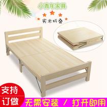 米双人床现代简约中式婚床高箱抽屉拖床储物1.8米实木大床1.5榉木
