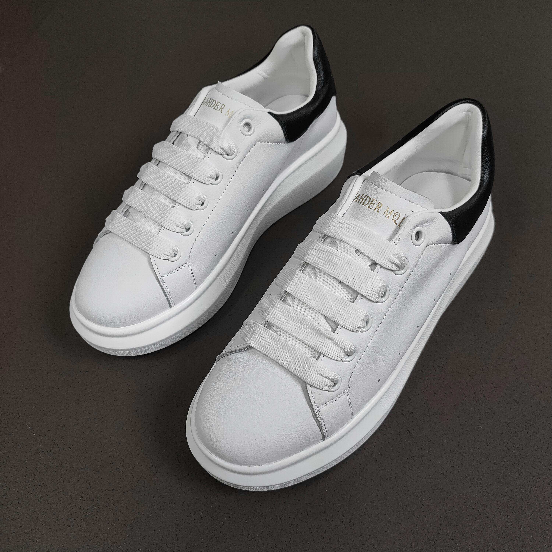 2020新款女鞋 真皮小白鞋情侣 平底D777
