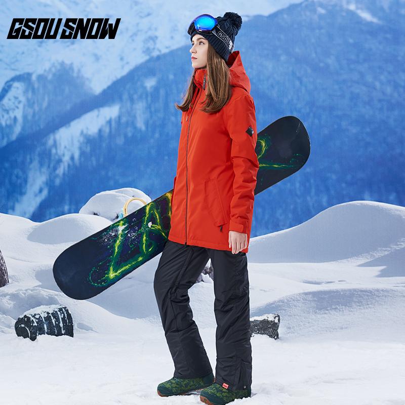 2017 новые товары катание на лыжах женская одежда установите девочки длинная модель твердый анти тепло штиль вода катание на лыжах одежда женщина катание на лыжах одежда