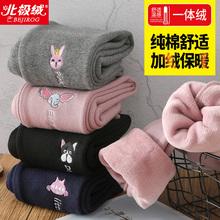 女童打底褲外穿女寶寶加絨加厚一體絨保暖棉褲子兒童裝洋氣秋冬裝