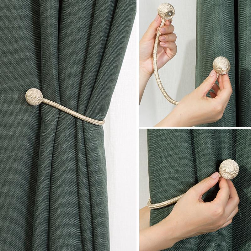 窗帘绑带磁铁扣简约现代客厅百搭磁铁窗帘扣挂钩免打孔磁吸扣束带