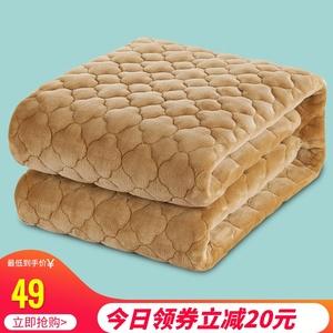 珊瑚绒防滑床垫保护垫被褥榻榻米宿舍单双人1.2/1.5m1.8米床褥子