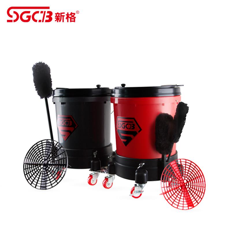 SGCB新格滑轮式洗车水桶多功能洗盘机洗盘器 4S店专用洗车桶