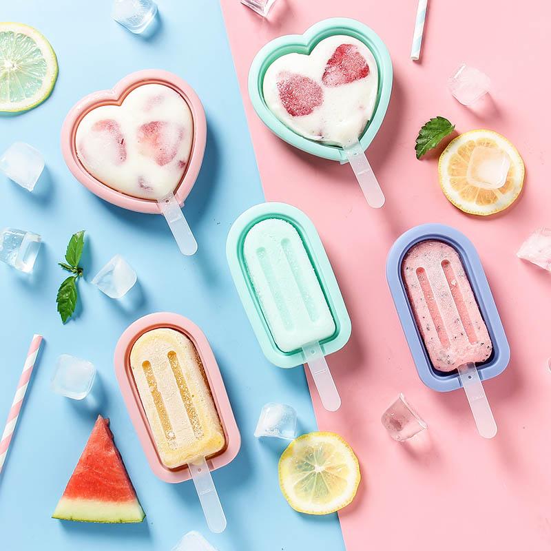 硅胶雪糕模具家用自制儿童可爱冰淇淋冰棒冰格果冻冰棍冰糕冰激凌