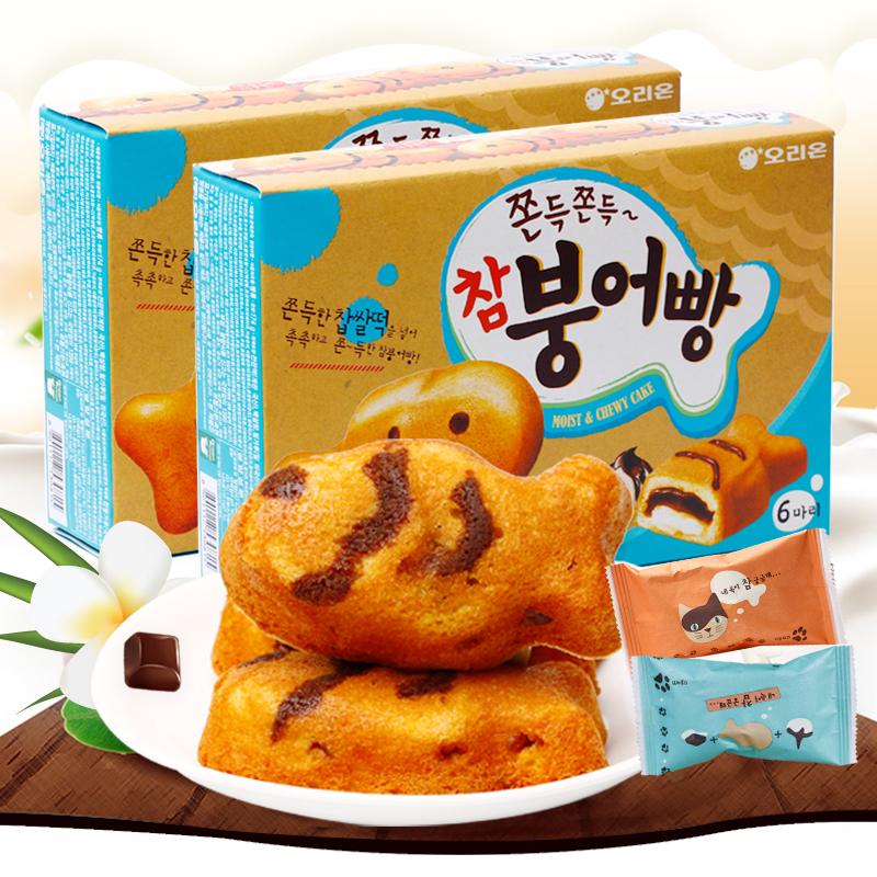 韩国好丽友打糕鱼鱼形巧克力蛋糕热销257件正品保证